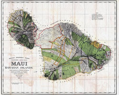 1885 Map of Maui