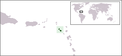 The location of the Federation of Saint Kitts ...