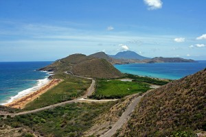 A view from St. Kitts towards Nevis